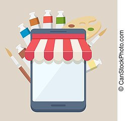 Purchasing online supplies from an