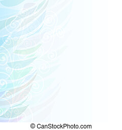 Pure Abstract blue floral background pattern left