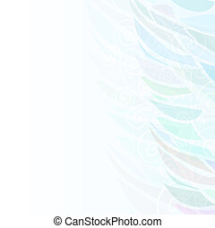 Pure Abstract blue floral background pattern right