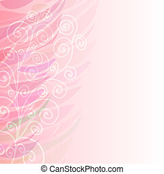 Pure Abstract pink floral background pattern left