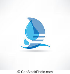 pure and wholesome water abstraction icon