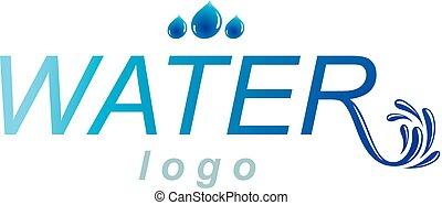 Pure aqua ecology vector logo. Human water reserves theme....