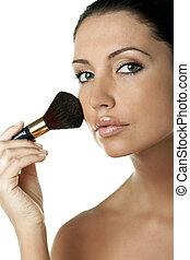 Pure Beauty - Portrait of Fresh and Beautiful brunette woman...