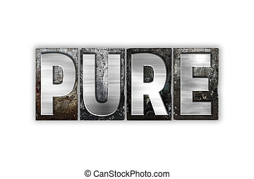 Pure Concept Isolated Metal Letterpress Type