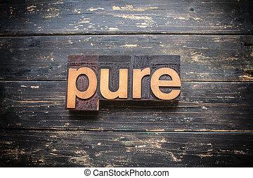 Pure Concept Vintage Wooden Letterpress Type Word