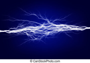 Pure energy and electricity with blue background