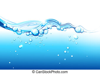 Pure Fresh Mineral Water. Vector illustration
