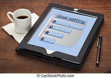 pure goal setting concept