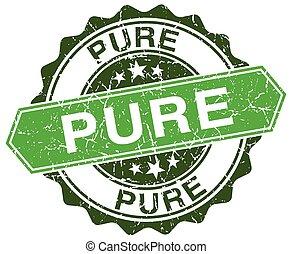 pure green round retro style grunge seal