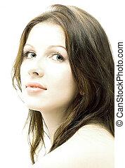 pure - hi-key brunette portrait