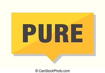pure price tag - pure yellow square price tag