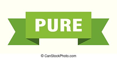 pure ribbon. pure isolated sign. pure banner