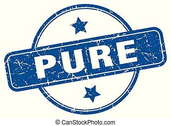 pure round grunge isolated stamp