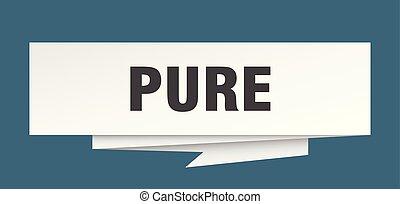 pure sign. pure paper origami speech bubble. pure tag. pure...