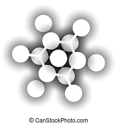 Pure silicon (Si, silicium), crystal structure. Si is the main building material of computer chips.
