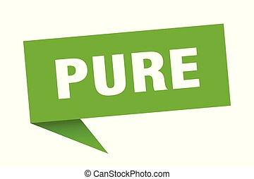 pure speech bubble. pure sign. pure banner