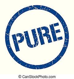 pure stamp - pure blue round stamp