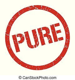 pure stamp - pure red round stamp