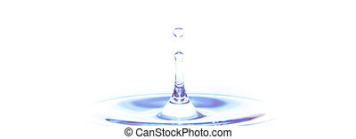 Pure water and H2O resources background - water splash isolated on white background