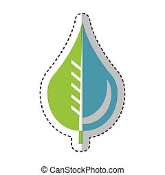 pure water drop with leaf emblem