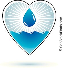 Pure water vector abstract logo for use as marketing design...