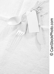 Pure white table setting