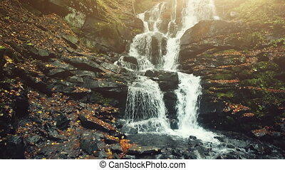 Pure wild highland waterfall creek stony ground - Pure Wild...