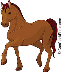 Purebred horse - Illustration of purebred chestnut horse