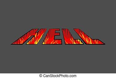 purgatory, 火, 形, rift., 地獄, letter., 穴, ピット
