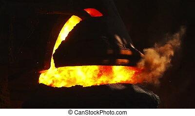 Purging metal in BOF