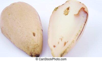 Purified ossicle of avocado - Two halves of peeled avocado...