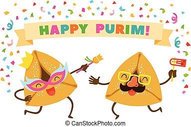 purim, ダンス, hamentaschen, パーティー