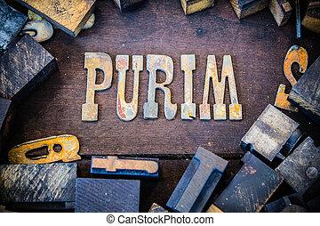 purim, 概念, 生鏽, 類型