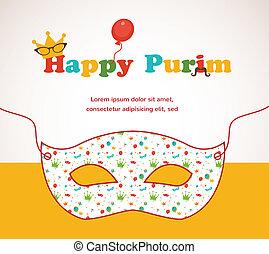 Purim background inside mask - Purim background inside...