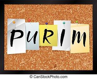 Purim Bulletin Board Theme Illustration