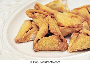 Purim Jewish Pastry Hamantashen - A hamantash is a pastry in...
