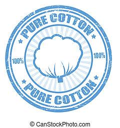 puro, algodão, selo
