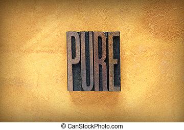 puro, letterpress