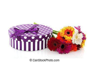 purpere bloemen, kado