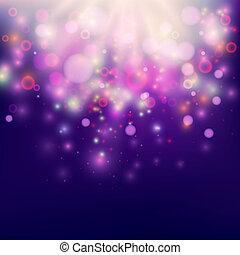 Purple Abstract Backdrop Bokeh Background