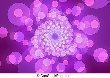purple abstract background, circles and light