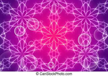purple abstract background, kaleidoscope light