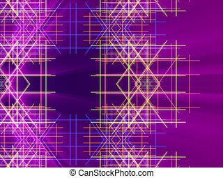 purple abstract background, lines and light
