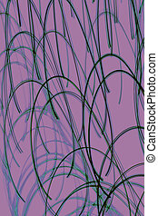 Purple abstract background with curved lines.