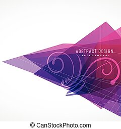 purple abstract background with floral element