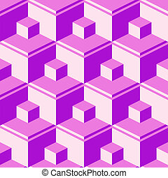 purple abstract cubes