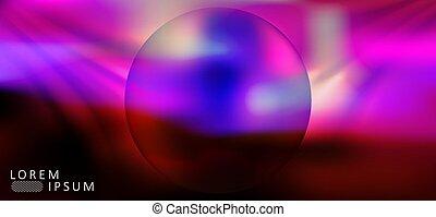 Purple abstract dark design with a round frame