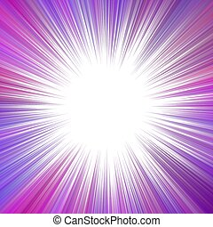 Purple abstract hypnotic speed concept background - vector star burst graphic