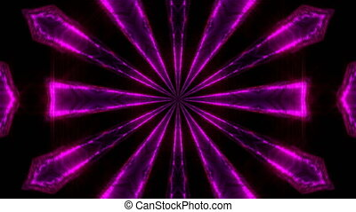 Purple abstract kaleidoscope background. Seamless loop