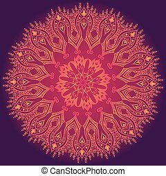 Purple abstract pattern with lace floral ornament